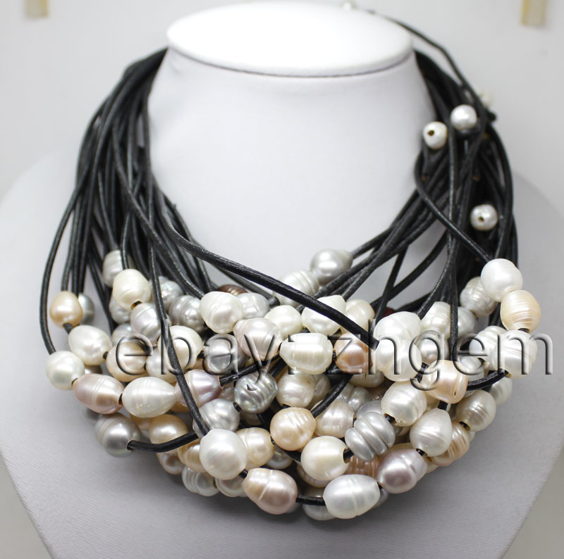 wholesale 27 strands big growing pearl necklace 17
